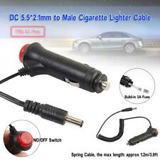 12V Car Cigarette Lighter Power Supply Charger Adapter 5.5 x 2.1mm DC w/Switch