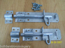 """4"""" (100mm) BRENTON PAD BOLT Electro Galvd for stable gates doors etc"""