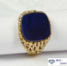 585er-Gold Herrenringe aus Gelbgold mit Lapislazuli-Perlen