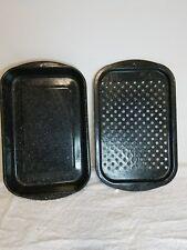 GRANITE WARE 10 X 16 INCH ROASTING PAN BAKE BROILER WITH INSERT