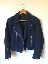 Topshop 100% Leather Suede Biker Jacket Zara MNG Mango H & M Witchery Marcs