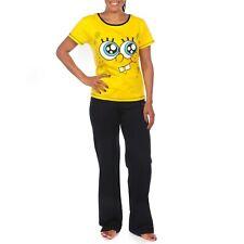 Ladies SpongeBob Squarepants Pyjamas | Womens Sponge Bob Square Pants Pyjama Set
