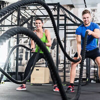40ft Fitness Undulation Rope Poly Dacron Battle Rope Strength Training