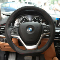 Brand New DIY Genuine leather Hand-stitched Car Steering Wheel Cover for BMW X6