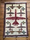 •116• Beautifully Handmade Genuine Afghan Drone War Rug, 88x62 cm