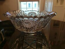 Gorgeous Antique 12 Cup Punch Bowl Very Old