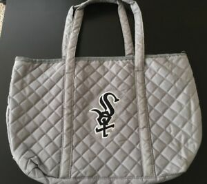 NEW Chicago White Sox Quilted Silver Tote Bag SGA