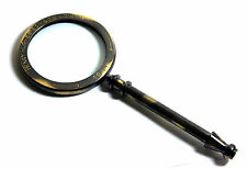 Vintage Collectable Brass Magnifying Glass - HENRY HUGHES LTD LONDON 1941-