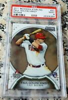 PAUL GOLDSCHMIDT 2011 Bowman Sterling Rookie Card RC PSA 9 MINT HOT $ 243 HRs $