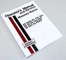 Massey Harris 22 55 82 102 202 Tractor Operators Service Manual