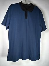 Puma Hussein Chalayan Mens Polo Mesh Blue Shirt SS XL