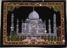 * Indian Taj Mahal Sequinned Wall Hanging * Fair Trade * Small