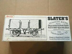 Slater's 7036 Wagon Kit Gloucester RC & W Bailey 6 Plank Open 7mm O Gauge