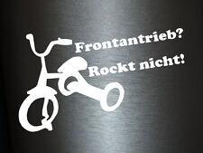 1 x 2 Plott Aufkleber Frontantrieb Rockt Nicht Dreirad Rad Sticker Tuning Fun