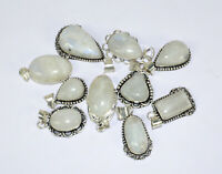 Rainbow Moonstone Gemstone 925 Sterling Silver Overlay Lot Women Pendant BGJ-11