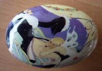 Art deco style erotic porcelain trinket pill box Gerda Wegener Pierrot 932-1A