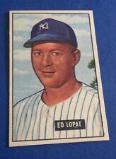 1951 Bowman Ed Lopat #218 New York Yankees Baseball Card EX-MT