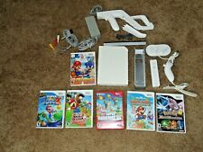 Nintendo Wii Console White Working Bundle Lot with Games