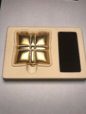 New listing New Estee Lauder Gold Powder Compact Square with Stones