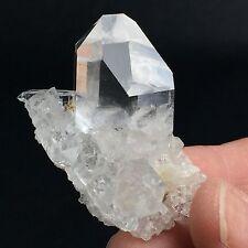 YEM X97 Arkansas Lemurian Quartz Crystal Cluster w/ 8-Faced Grounding Point