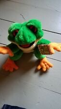 RainForest Cafe Cha-Cha Tree Frog 9� Plush Green-Vintage Never used w tags Disc