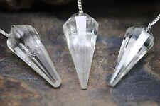 3 Pcs Crystal Quartz Pendulums Reiki Healing Dowsing Energy Gemstones 736