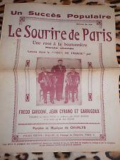 Partition - Le sourire de Paris - Palace-édition