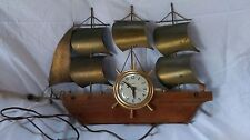 Vintage United Nautical Brass Ship Mantel Clock Model No.110