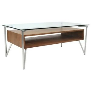 LumiSource Hover Coffee Table, Walnut - TB-HVR-CTWL