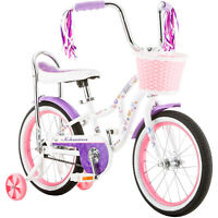 "Girls Pink Bloom Bike 16"" Schwinn Cute Rear Coaster Brake Handlebar Basket Wheel"
