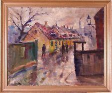 Mogens Vantore 1895-1977 Post Impressionist Painting Oil Canvas Montmartre Paris