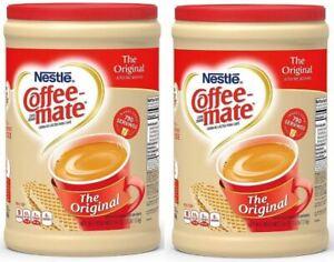 2 Packs, Nestle Coffee-mate Powder Original Non-Dairy Creamer Canister 56 oz.