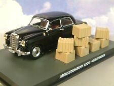 DIECAST 1/43 JAMES BOND 007 MERCEDES-BENZ 220S GOLDFINGER FACTORY CHASE WITH DB5