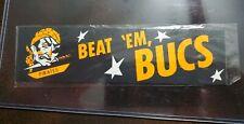 Vintage 1950s Beat 'Em Bucs Pittsburgh Pirates Sticker NOS