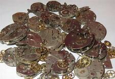 25g WHOLE WATCHES PARTS Pieces Old Gears Plates Steampunk Watch Movements Rust