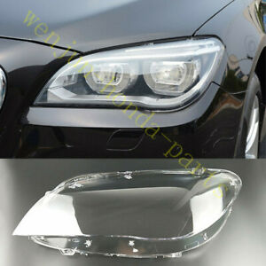 FIT For BMW 7-series F01 F02 2009-15 1Pcs Left Side Headlight Cover  + Glue