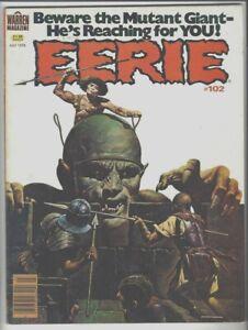 EERIE #102 Warren Horror, Sanjukian Cover, Lee Elias, Duranona,Ortiz  Art FN 6.0