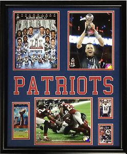Patriots Super Bowl 51 Champions 5 photo ticket framed Tom Brady MVP 22x27