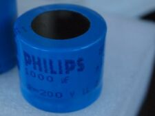 Premium Philips 1000uF 200V Electrolytic Capacitor for solid state amplifier pre