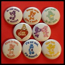 "Care Bears 1"" buttons badges pinbacks SATURDAY MORNING CARTOONS KIDS 80s"