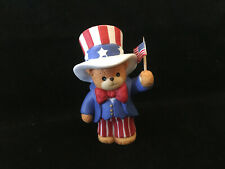 Lucy & Me Uncle Sam With Flag Bear Lucy Rigg 1993 - Rare