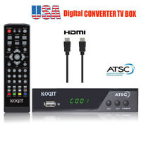 Free HD Atsc Digital Converter Box Clear QAM TV Tuner Receiver USB Media Player