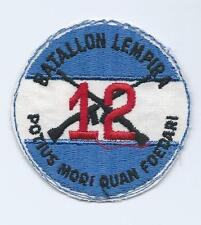 BATALION LEMPIRA 12 CROSSED GUNS POTIUS MORI QUAN FOEDARI PATCH,GUNCLUB MILITARY