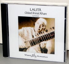 WATER LILY CD WLA-ES-26-CD: Ustad Imrat Khan - LALITA - OOP USA 1993 NM