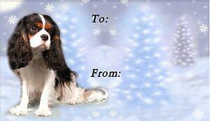 Cavalier King Charles Spaniel Dog Christmas Labels No. 5 by Starprint