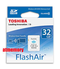 Genuine Toshiba 32GB 32G FlashAir SDHC SD Card Wifi Class 10 Wireless in Sydney
