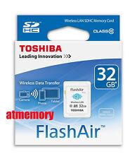 Genuine Toshiba 32GB 32G FlashAir SDHC SD Card Wifi Class 10 Wireless in Sydney