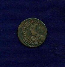 FRANCE  DOMBES  GASTON de ORLEANS  1642  DOUBLE TOURNOIS COIN, XF+