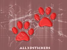 Pegatina Huellas 3D Relieve - Color Rojo