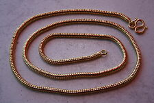 STAINLESS STEEL RHINESTONE GOLD CHAIN SNAKE CHAIN 2,7 MM WIDE 49 MM LONG 150